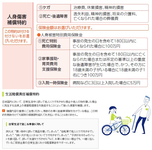 自転車保険 自転車保険比較家族 : アメホ 自動車保険には 生活 ...